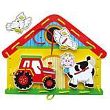 Деревянная игра - шнуровка «Ферма», 59027, фото