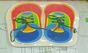 Деревянная игра-шнуровка «Кеды», BT-WT-0112