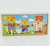 Деревянная игра «Одень Мишкину семью», 0423
