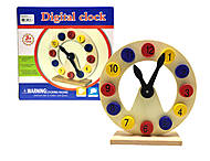 Деревянная игрушка «Часы» на подставке, Р03уа, фото