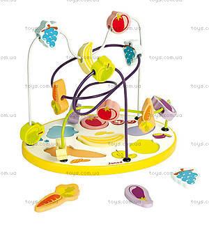 Деревянная игрушка «Фруктово-овощной лабиринт», J08091
