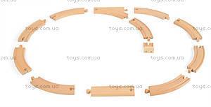 Деревянная игрушка «Железная дорога», 12 частей, J08538, купить