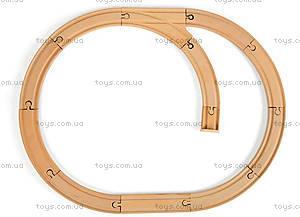 Деревянная игрушка «Железная дорога», 12 частей, J08538, отзывы