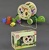 Деревянная игрушка «Каталка-Черепаха», С23177