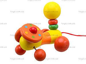 Деревянная игрушка-каталка для детей «Животные», W02-5220, фото