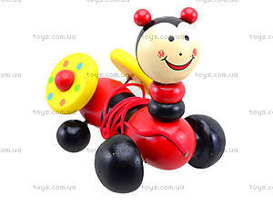 Деревянная игрушка-каталка для детей «Животные», W02-5220, игрушки