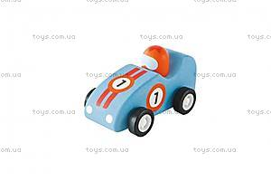 Деревянная игрушка «Машинка Формулы 1», голубая, 82526