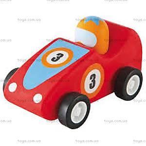 Деревянная игрушка «Машинка Формулы 1», красная, 82528