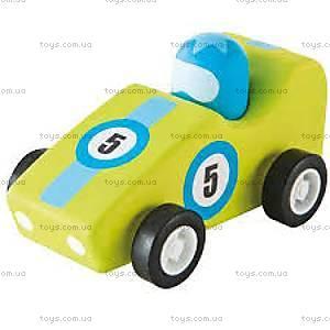 Деревянная игрушка «Машинка Формулы 1», светло-зеленая, 82527