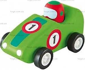 Деревянная игрушка «Машинка Формулы 1», зеленая, 82534