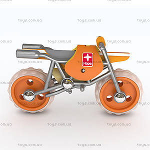 Деревянная игрушка-мотоцикл из бамбука E-Moto, 897659