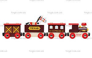 Деревянная игрушка-поезд «Далекий запад Стори бокс», J08533, фото