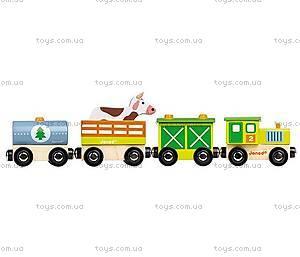Деревянная игрушка Поезд фермера «Стори бокс», J08532, купить
