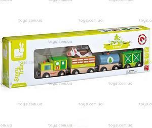 Деревянная игрушка Поезд фермера «Стори бокс», J08532