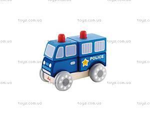 Деревянная игрушка «Полицейская машинка», 82407s