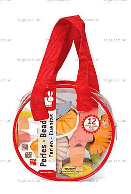 Деревянная игрушка-шнуровка «Бусы Саванна», шнуровка, J08169, купить