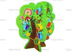 Деревянная игрушка-шнуровка «Дерево», W02-4273, купить