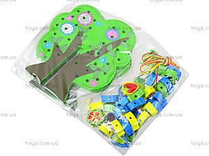 Деревянная игрушка-шнуровка «Дерево», W02-4273, фото