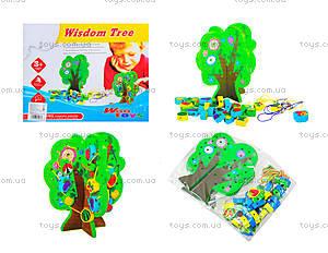 Деревянная игрушка-шнуровка «Дерево», W02-4273