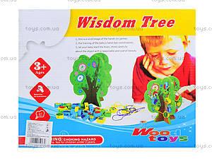 Деревянная игрушка-шнуровка «Дерево», W02-4273, отзывы