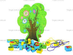 Деревянная игрушка-шнуровка «Дерево», W02-4273, цена
