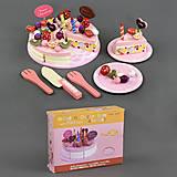 Деревянная игрушка «Торт на липучках», С23234, набор