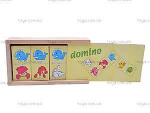 Деревянное домино «Животные», W02-3133-1, купить