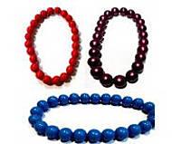 Деревянное ожерелье «Шарики», Д389у, купить