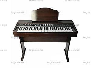 Деревянное пианино с микрофоном,