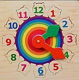 Деревянные часы «Радуга», Р 01, toys