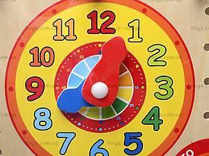 Деревянные часы с календарем, MD0523, магазин игрушек