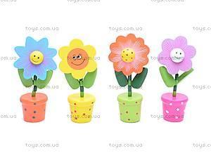 Деревянные цветы-марионетки, W02-3065