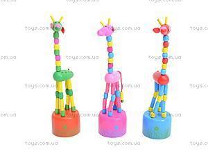 Деревянные жирафы-марионетки, W02-3061