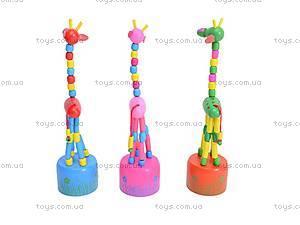 Деревянные жирафы-марионетки, W02-3061, игрушки
