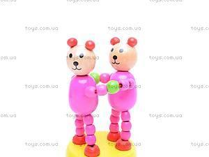 Деревянные животные-марионетки, W02-3058, игрушки