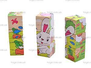 Деревянные кубики «Зверушки» , 2700-366, купить