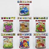 Деревянные кубики - пазлы с картинками, 0510, опт