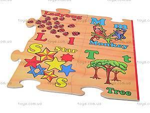 Деревянные пазлы «Английский алфавит», 26, цена