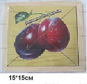 Деревянные пазлы «Фрукты», 1134-FRUITS