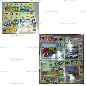 Деревянные пазлы «Картина и карточки», 2012-010