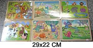 Деревянные пазлы с животными, W02-4018