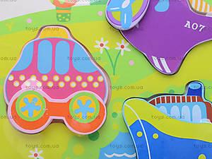 Деревянные вкладыши «Цветные фигурки», 56425643, игрушки