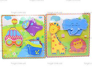 Деревянные вкладыши «Цветные фигурки», 56425643, детские игрушки
