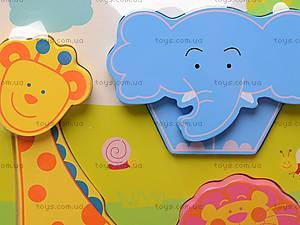 Деревянные вкладыши «Цветные фигурки», 56425643, купить