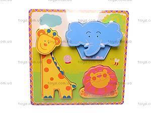 Деревянные вкладыши «Цветные фигурки», 56425643, цена