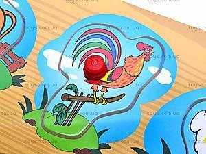 Деревянные вкладыши с животными, W02-3894, детские игрушки