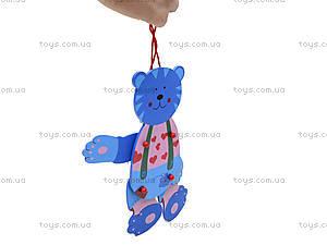 Деревянные зверушки на веревочке, 2594-44, toys