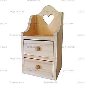 Деревянный комодик из сосны, заготовка, LYAC2011-0353
