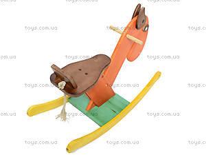 Деревянный конь-качалка, К011, фото