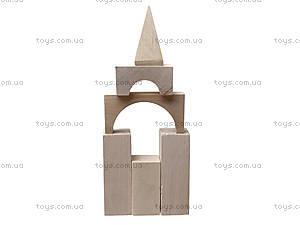Деревянный конструктор для детей «Городок», 8050-01, детские игрушки